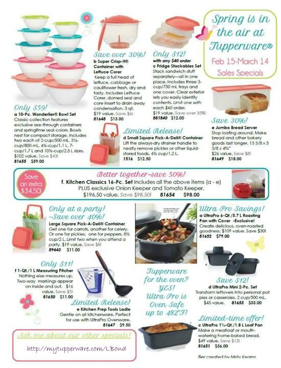 Tupperware specials through March 14 Shop Now -->www..trudesquintanilla@my2.tupperware.com
