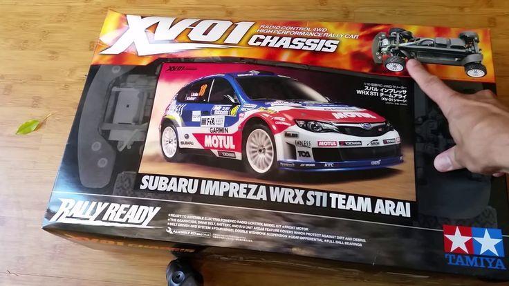Unboxing of Tamiya XV01 1/10 Rally Car RC Kit for Suburu Impreza