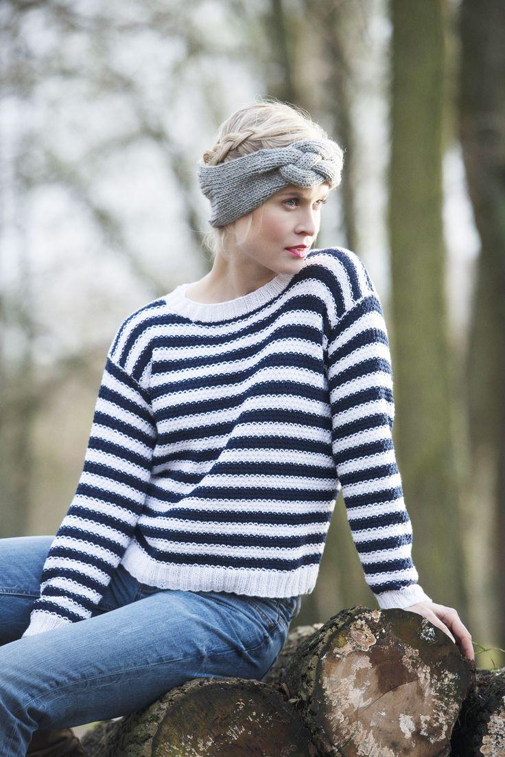 Naisen palmikkoneulepanta Novita 7 Veljestä   Novita knits