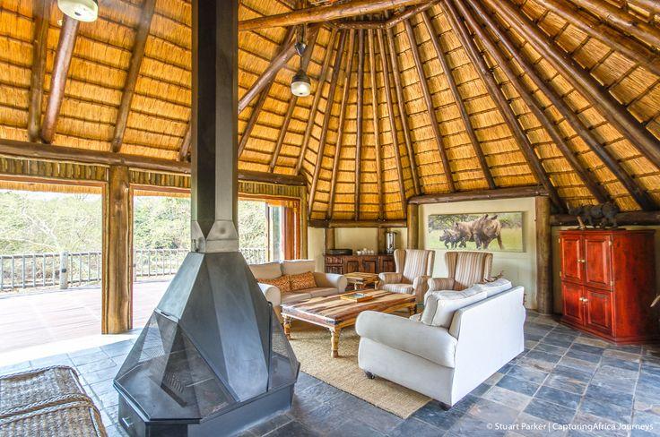 Rhino River Lodge Lounge - Luxury African Safari Lodge