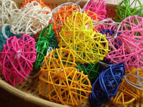 Rattan Ball String Lights Target : Mixed Heart Colorful Rattan Ball String Lights For Wedding and House decoration (20 Flowers/Set ...