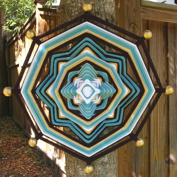 """18"""" Mandala Woven Yarn Art - Ojo de Dios Wall Hanging - JaxJags"""