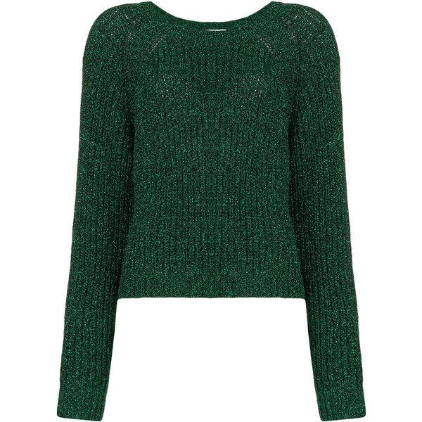 Essentiel Antwerp Osmose metallic jumper (6.110 RUB) found on Polyvore featuring women's fashion, tops, sweaters, green, green jumper, green sweater, metallic jumper, jumper tops and jumpers sweaters