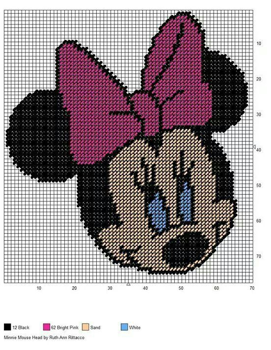 79 best plastic canvas mickey and minnie mouse images on ...