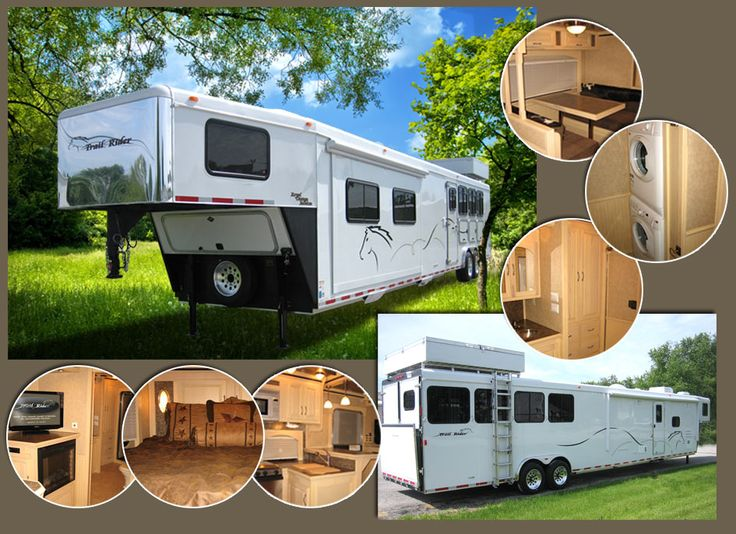 Royal Custom 20' Living Quarters Horse Trailer with Washer Dryer 4-Horse Demo- FOR SALE!