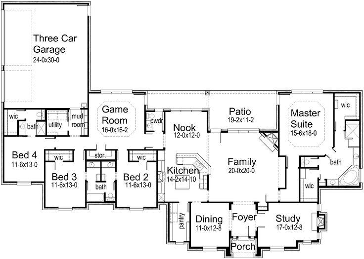 Best 25+ 5 bedroom house plans ideas only on Pinterest | 4 bedroom ...