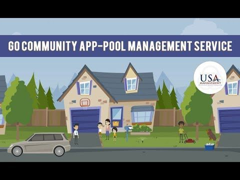 Go Community App - Pool Management Service  Today mobile applications are playing a big role in our day to day life, there is an app for everything. Go community app is also an app which will help you in many ways. This a customized, free app developed and designed specifically for your neighborhood and community. This will tell you what is happening around your neighborhood and will keep you informed about it. for more information visit to our official website: http://usamanagement.com…