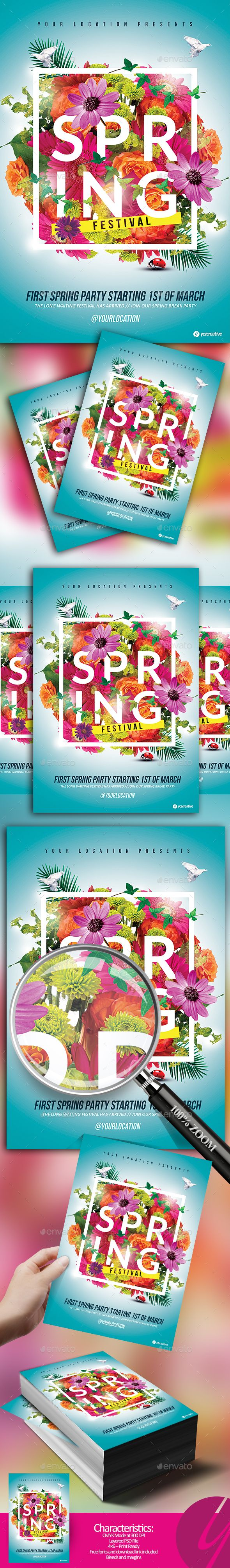 Spring is Here Festival by YczCreative Spring is Here Festival 鈥?20Flyer The best flyer for your next event Special designed for your ocasion Characteristics: 鈥?20CMYK Mode