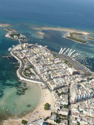 Veduta aerea di Porto Cesareo