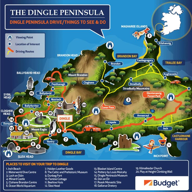 Looking to discover something new on your next road trip? The Dingle Peninsula has something for everyone, driving Conors Pass is not for the faint hearted but worth it for the view! The Gallarus Oratory is a must see for history lovers, finding Fungi in Dingle will keep the kids entertained whilst a stroll on Inch beach will be the perfect way to end a perfect road trip.