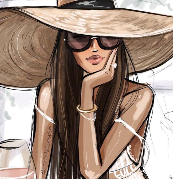 Рисунки стильные женщины