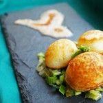 Scallion Pancake with Peanut Coconut Tamarind Chutney
