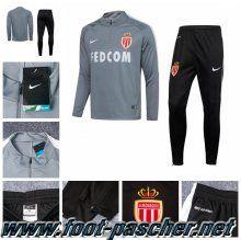 Survetement Nike Homme Pas Cher AS Monaco Gris 2016/2017 Ensemble Discount