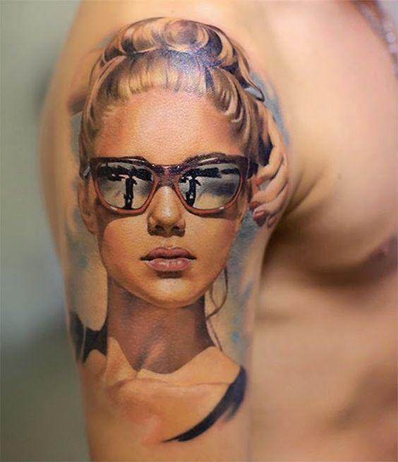 Tatuagens de retratos que são quase fotos | Tinta na Pele