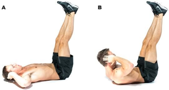 vertical leg crunch - Google Search