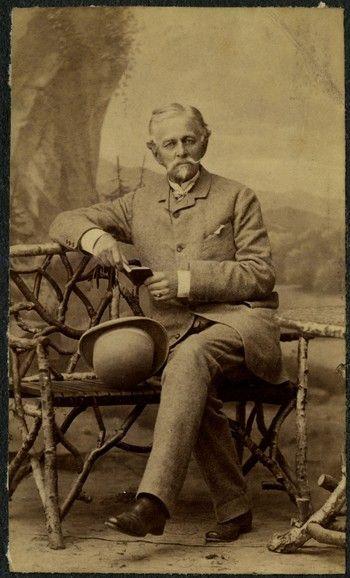 Stanisław Zamoyski (1820 – 1889) z Podzamcza, autor listów. Fot. ok. 1880 r.