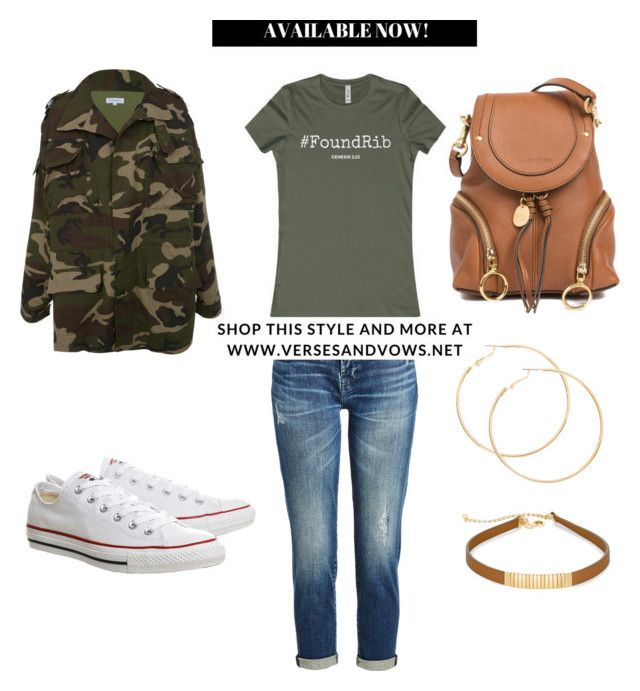FoundRib Tee by Verses & Vows (casual fall outfit, camo, converse, jeans)