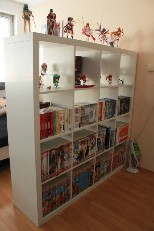 otaku room....I want that shelf....and all the stuff on it.
