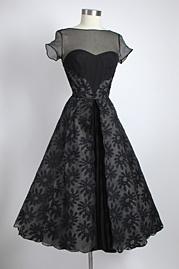 Vintage clothing site: Silk Chiffon, Black Dresses, Vintage Dresses, 1950S Dresses, Clothing Site, 1950S Silk, Vintage Cocktails Dresses, 1950 S, Vintage Clothing