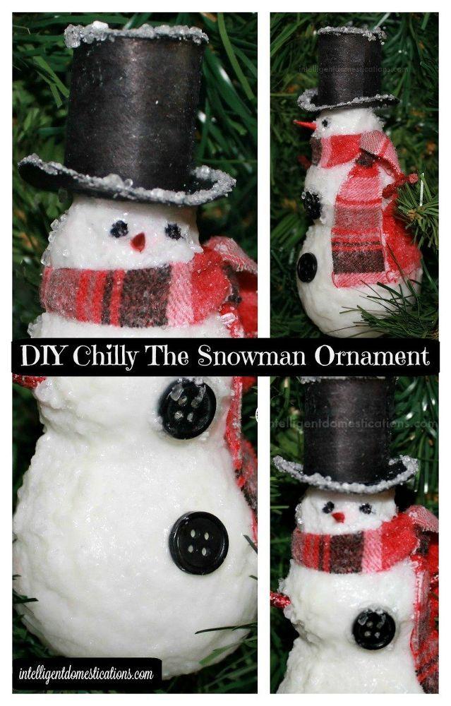DIYChillyTheSnowmanOrnament 481 best Christmas Snowman images
