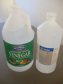 """Homemade carpet and upholstery cleaner  """"1 cup rubbing alcohol"""" """"1/4 cup white vinegar"""" """"(It may be diluted with water if you'd like a gentler formula)"""" """""""" """"Mix together and either store in a spray bottle or dab onto a stain with a cloth. Let soak if necessary and rub out with an old rag. And, of course, test in an inconspicuous place to make sure no discoloration occurs."""""""