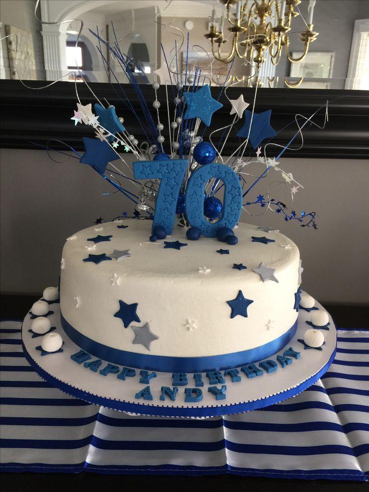 Milestone Birthday Celebration Cake 70th Birthday Cake