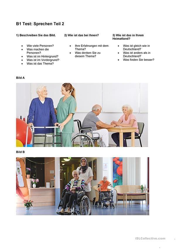 Dtz Bildbeschreibung Deutsch Lernen Bilder Deutsch Prufung