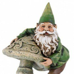 "Decorate the yard w/ an Irish Garden Gnome (or paint a regular one to look ""Irish"")"