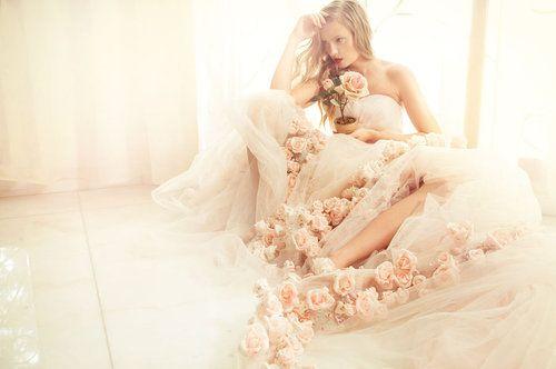 Bride in Spring time