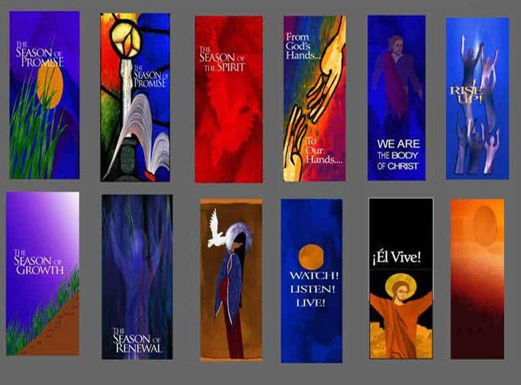 liturgical banner sacred spaces pinterest