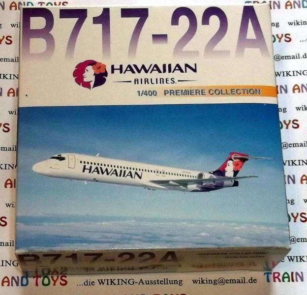 Ich biete hier Modelle in Bestzustand aus meiner Flugzeug Sammlung Maßstab 1:400 an.z.B. Dragon Modellflugzeug im Maßstab 1:400:B 717-22 A Hawaiian AirlinePreis nur 13,- €Preis bezieht sich nur auf Bild 1 bis 3.Bestzustand in Originalverpackung. Schachtel wurde nur zur Begutachtung geöffnet.Versand für 4,- € möglichBei Versand in Deutschland 4,- €. International für 6,20 € als eingeschriebener Auslands-Maxibrief.Sehen sie sich auch meine weiteren Modelle Angebote an.Bei mehreren Käufen nur…