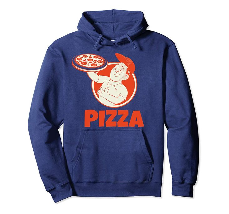 Classic Vintage Retro Pizza Funny Pizza Lover Gift Pullover Hoodie
