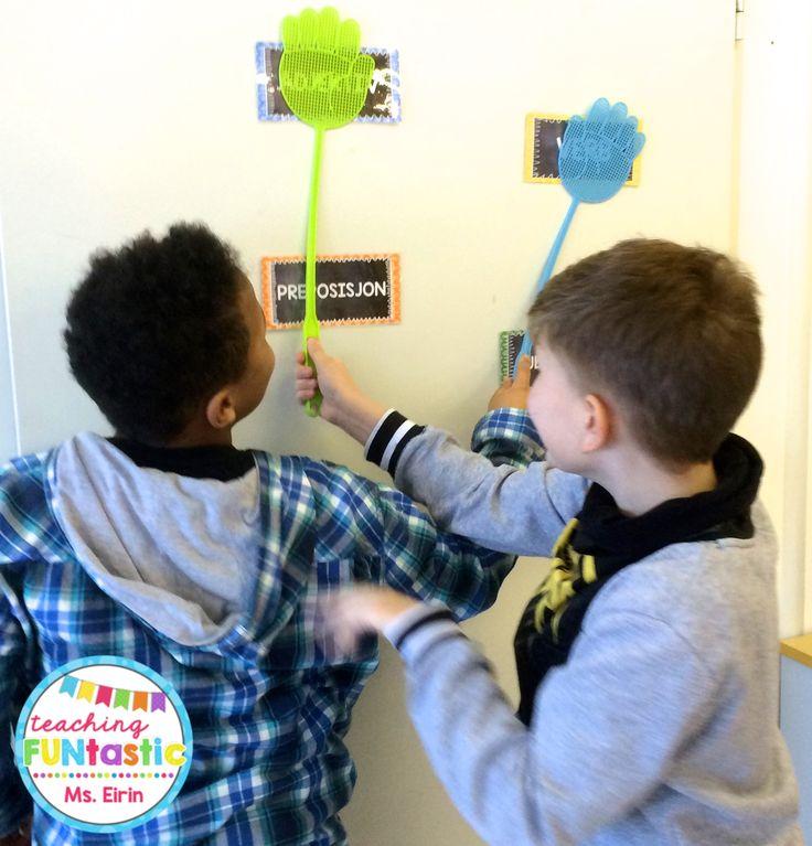 PY 5 - Uke 4: Spillstasjon hvor vi øver på å gjenkjenne og kategorisere ordklassene substantiv, verb, adjektiv og preposisjoner. Morsom og aktiv læring!