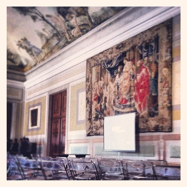 EMAC 2012 @ National Palace of Mafra, waiting for the afternoon conferences..