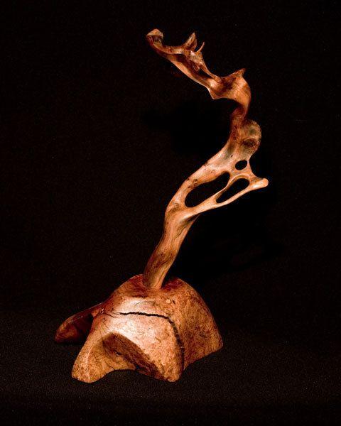 Wood Sculpture of Redwood and Manzanita  Free by WoodintheWind