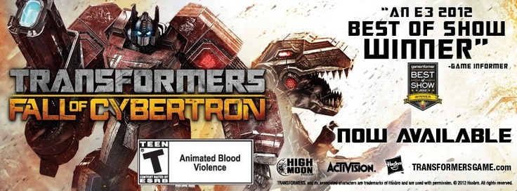 Transformers: Fall of Cybertron is now launched at stores all over India for the Xbox 360 and PS3 at Rs. 2,999.    For details: http://www.facebook.com/oyebunk
