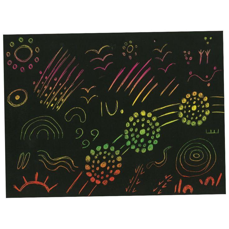 Scratch Art Indigenous Symbols - CleverPatch