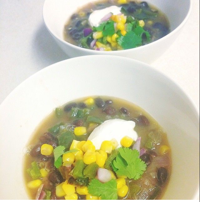 Hella Spicy Black Bean Soup with Jalapeno Salsa | Spicy, Black bean ...