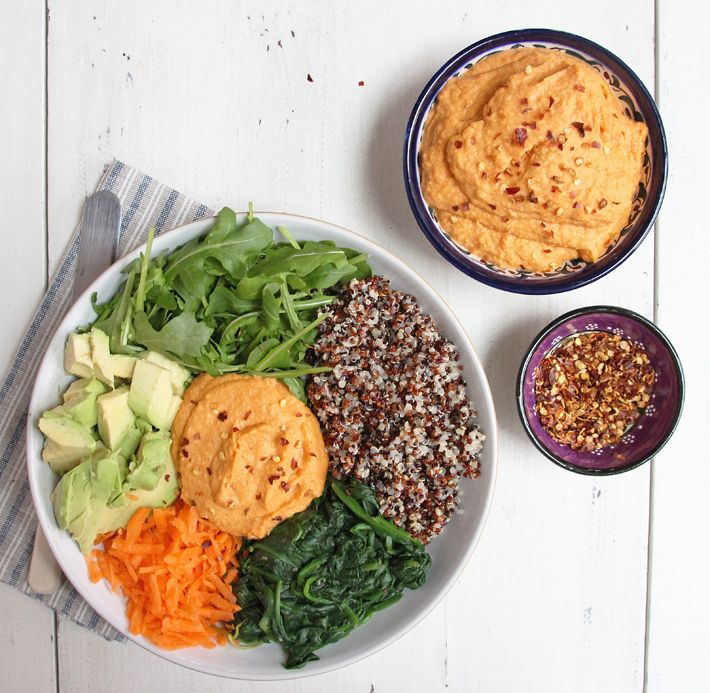 Roasted Red Pepper and Paprika Hummus