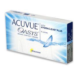 ACUVUE® OASYS™ z HYDRACLEAR™ Plus to nawilżona, ultra gładka soczewka kontaktowa dla osób, które odczuwają suchość związaną z noszeniem soczewek kontaktowych. Tę nową, niezwykłą, wysokiej jakości soczewkę kontaktową należącą do ULTRA COMFORT SERIES™ zaprojektowano, aby pomóc utrzymać nawilżenie i świeżość oczu nawet w zmiennych warunkach otoczenia.