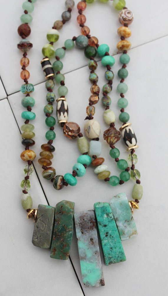 Stone Necklace Ocean Jasper /& Picture Jasper Beaded Necklace Beaded Necklace Handmade Beaded Jewelry Boho Gifts for Her Stone Jewelry
