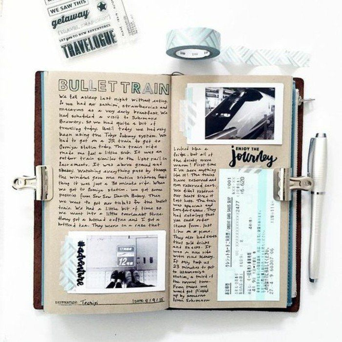 comment faire un carnet de voyage id es inspirantes en 60 photos journal bullet journals and. Black Bedroom Furniture Sets. Home Design Ideas
