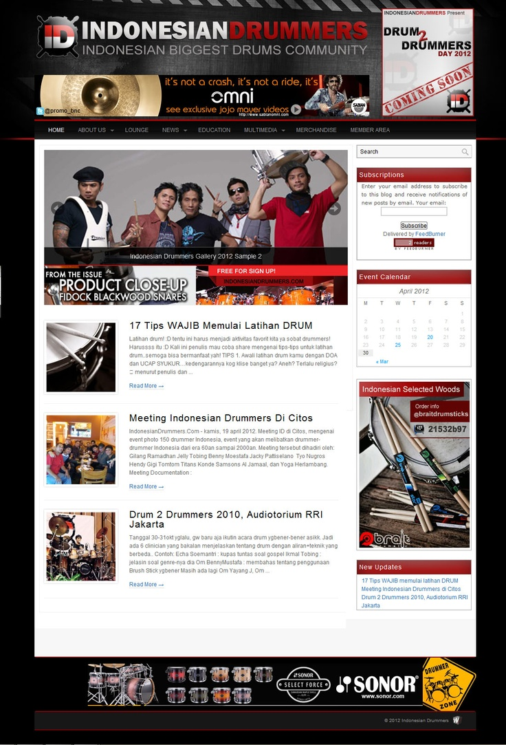 The Indonesian Biggest Drum Community - Updates at http://indonesiandrummers.com