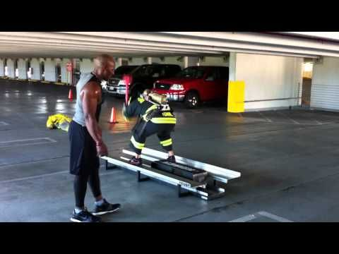 FireFighter Combat Challenge Training This is Definitely not a Short-Man Sport. Not too bad considering This Course set-up is Longer than the Original One and its Been for Ever Since i Last Did This!