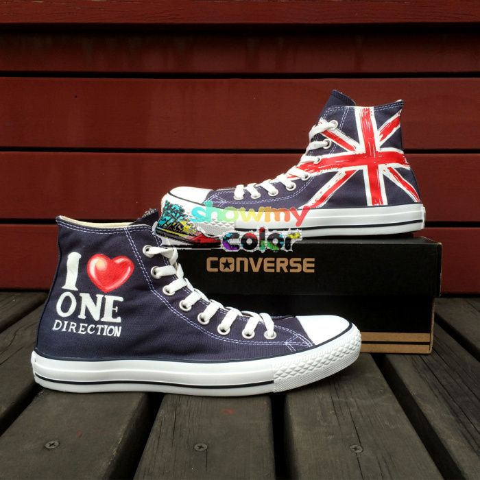 one direction converse custom 1d shoes canvas sneaker for