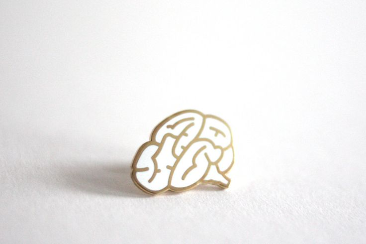 Brain Pin Badge, Hard Enamel Pin Brooch, Follow Your Heart, White lapel Pin Back Button by RockCakes on Etsy https://www.etsy.com/listing/256917158/brain-pin-badge-hard-enamel-pin-brooch