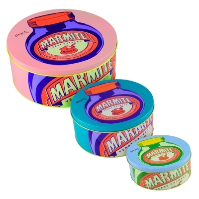 Marmite Set Of Three Cake Tins | Past Times £25.00 #Marmite #Gifts