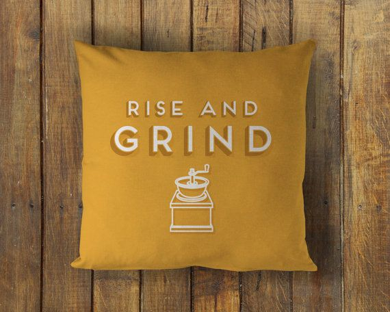 rise and grind  printed throw pillow  5 sizes