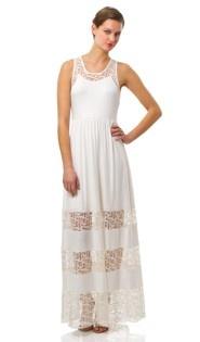 Steffi Ivory Lace Stripe Dress