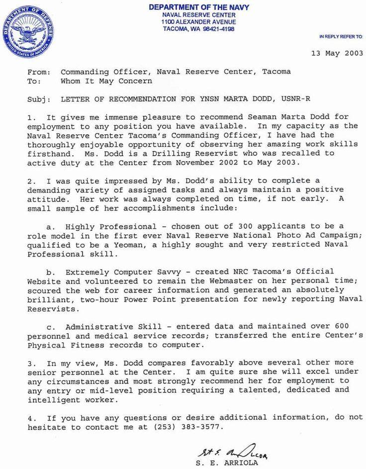 Navy Letter Of Fresh January 2019 Banit